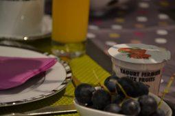 Yaourt bio et raisins du Pavillon de Beaumont