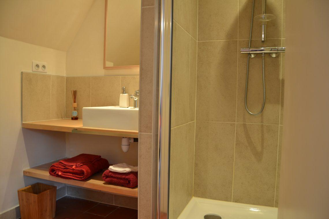 Salle de bain chambre d'hôtes à Lille Hetre Pavillon de Beaumont