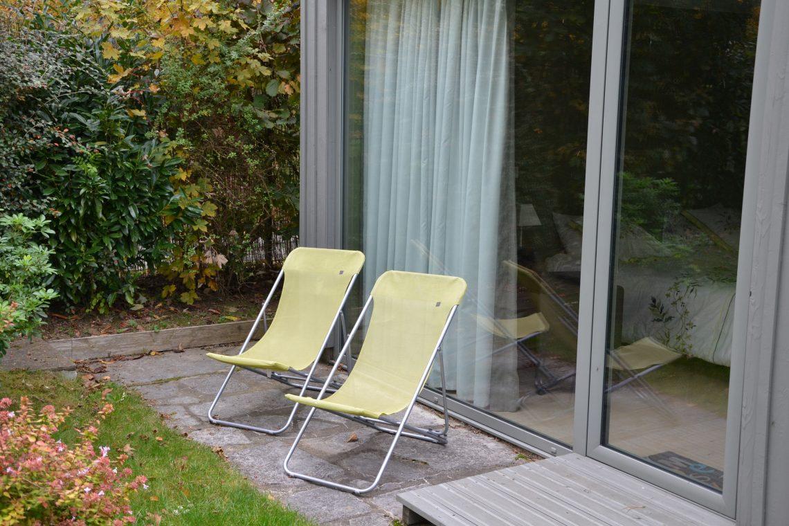 Terrasse chambre d'hôtes à lille Tilleul Pavillon de Beaumont