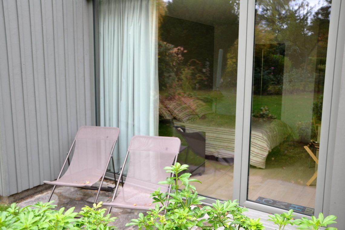 Terrasse chambre d'hôtes Pin du Pavillon de Beaumont